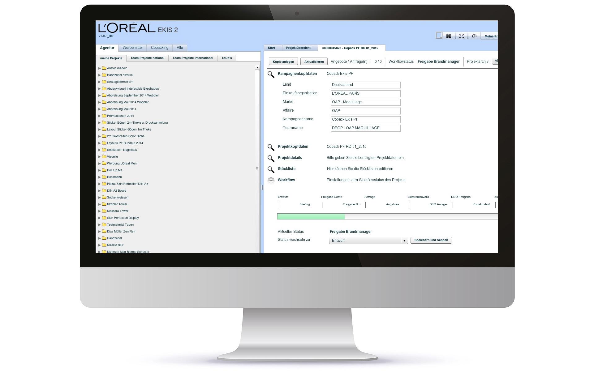 Kundenreferenz L'Oreal von der media it services GmbH